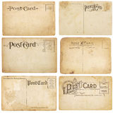 Six Vintage Unstamped Post Cards stock photography