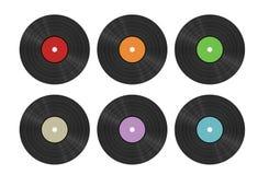 Six vinyl discs Stock Image