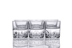 Six Water glass. Royalty Free Stock Photos