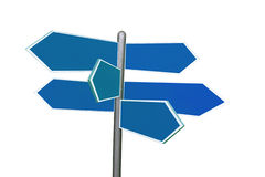 Six-way signpost Stock Images