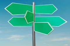 Six-way signpost vector illustration