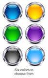 Six Web Site, Internet App Icons Royalty Free Stock Image