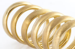 Six wedding rings Royalty Free Stock Photography
