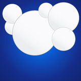 Six white circles Stock Photography