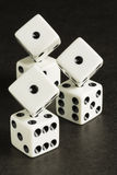 White Dice Formation Stock Images
