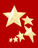 Six white stars against a red background Stock Image