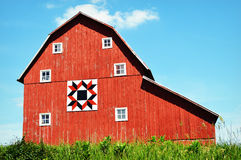 Six Windows Quilt Barn Royalty Free Stock Image