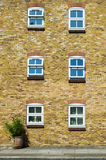 Six windows Royalty Free Stock Photography