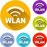 Six wlan icons. Illustration of six wlan icons with shadow Royalty Free Stock Images