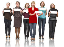 Six women in team Royalty Free Stock Image