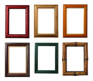 Six Wooden Frames Royalty Free Stock Photo
