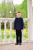 Six year old boy on a walk Royalty Free Stock Photo