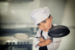 Six years chef girl Stock Images