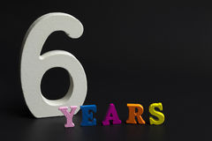 Six years. Stock Photography