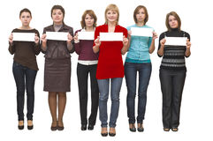 Six young beautiful women represent.. Stock Images
