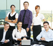 Six young business persons in formal clothes Royalty Free Stock Photo
