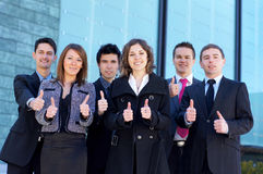 Six young business persons in formal clothes Royalty Free Stock Image