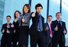 Six young business persons in formal clothes Royalty Free Stock Images