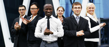 Six young businesspersons in formal clothes Royalty Free Stock Photo