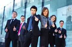 Six young and smart Caucasian business persons Stock Images