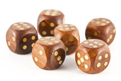 Sixes on the dice Royalty Free Stock Image
