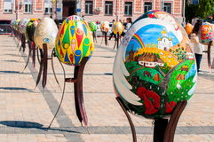 Sixième festival de Tout-Ukrainien des oeufs de pâques Images stock