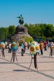 Sixième festival de Tout-Ukrainien des oeufs de pâques Image libre de droits