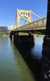 Sixième rivière Pittsburgh du centre Pennsylvanie d'Allegheny de pont en rue Photographie stock libre de droits