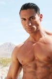 sixpack красивого человека abs сексуальное стоковая фотография
