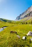 Sixt Fer um parque nacional V de França dos cumes de Cheval Imagem de Stock