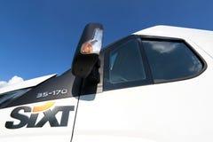 Sixt logo at van for hire Royalty Free Stock Image
