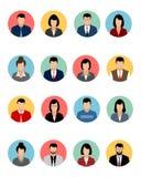 Sixteen avatars set. Vector illustration of a sixteen avatars set Stock Image
