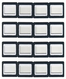Sixteen clip-on slide frames. Made from plastic Royalty Free Stock Photography