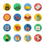 Sixteen Different Icons in a Flat Style vector illustration