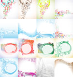 Sixteen Fancy Abstract Backgrounds Royalty Free Stock Photo
