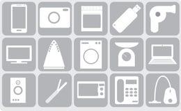 Sixteen gadgets Royalty Free Stock Photos