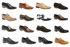 Sixteen man's shoes Royalty Free Stock Photo