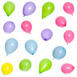 Sixteen multicolored balloons Royalty Free Stock Photography