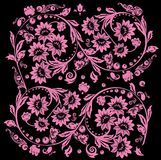 Sixteen pink flower design royalty free illustration