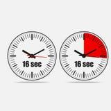 Sixteen Seconds Clock stock illustration