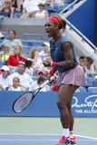 Sixteen times Grand Slam champion Serena Williams at Billie Jean King National Tennis Center during match at US Open 2013 Stock Photo