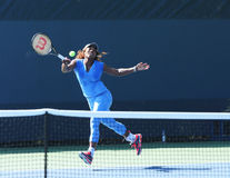 Sixteen times Grand Slam champion Serena Williams practices for US Open 2013 at Billie Jean King National Tennis Center Stock Photos