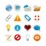 Sixteen universal icons Stock Photography