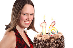 Sixteen year old teenage girl birthday Stock Photos