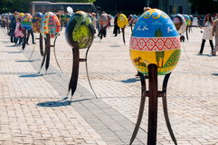 Sixth All-Ukrainian festival of Easter eggs Stock Photography