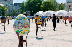 Sixth All-Ukrainian festival of Easter eggs Stock Photo