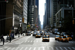 Sixth Avenue  in Manhattan New York Stock Images