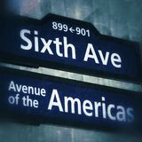 Sixth Avenue in New York City Royalty Free Stock Photos