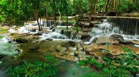 Sixth floor of Huay Mae Kamin Waterfall Stock Images