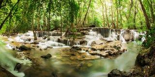 The sixth level of Huai Mae Kamin Waterfall Royalty Free Stock Image